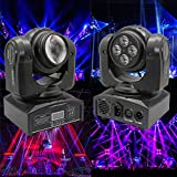 XPC 5LED 50W Beam Wash Double Sides RGBW 15/21 Channel DMX 512 Infinite Rotating Moving Head LED Stage Pattern Lamp for Indoor Disco KTV Club Party (Color: 50W)