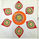 Wholesale Cost Indian Traditional Handicraft Work Export Quality UNIQUE Big Rangoli : HOME DECOR Rich Look Items