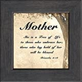 Mother Inspirational Saying Framed Gift for Encouragement and Appreciation For Mother's Day, Valentines Day, or Birthday. Easel Back for Desktop Standing.