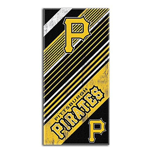The Northwest Company MLB Pittsburgh Pirates Diagonal Beach Towel, 28-Inch by 58-Inch