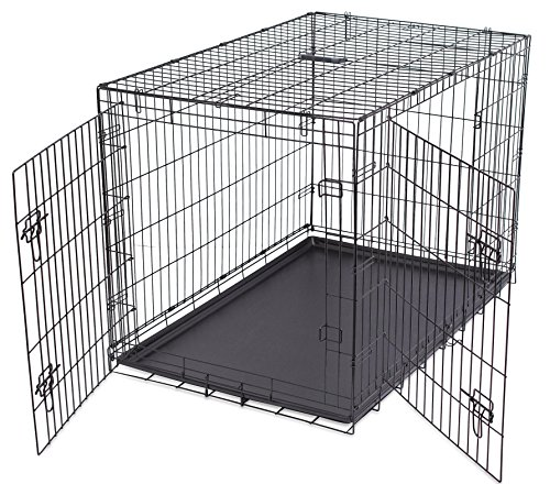 Internet\'s Best Wire Dog Kennel | Large (42 Inches) | Double Door ...