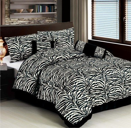 Zebra Striped Comforter