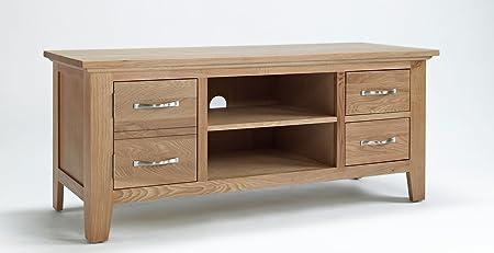 Madera de roble Nottingham sala de estar armario mueble para televisor con función de atril