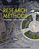 Basics of Research Methods for Criminal Justice and Criminology (1111346917) by Maxfield, Michael G.