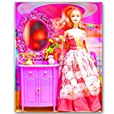 Beautiful Kids Toys With Trendy Dresses Like Barbie Doll Set Toy Baby Gift - 18