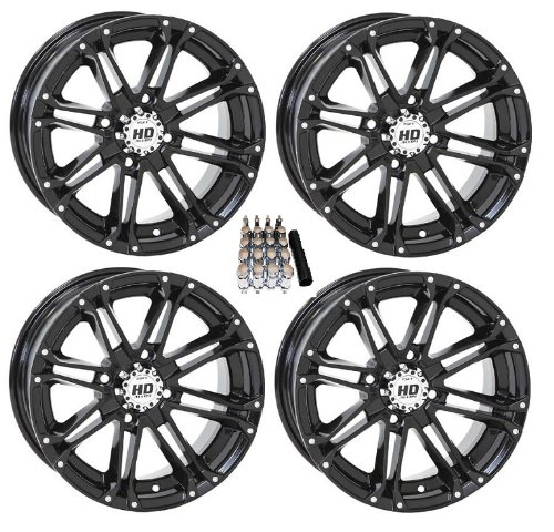 STI HD3 ATV Wheels/Rims Black 14