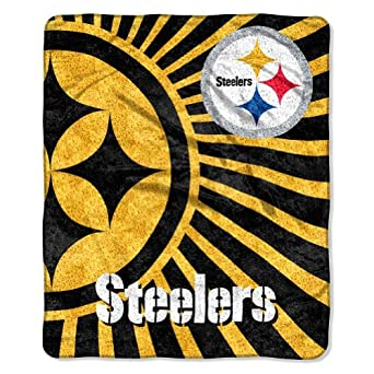 NFL Pittsburgh Steelers 50-Inch-by-60-Inch Sherpa on Sherpa Throw Blanket Strobe... by Northwest