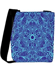 Snoogg Blue And Purple Designer Womens Carry Around Cross Body Tote Handbag Sling Bags