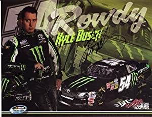 Buy 2013 Kyle Busch #54 Monster Energy ROWDY (Nationwide) 9X11 Hero Card *AUTOGRAPHED* by Trackside Autographs