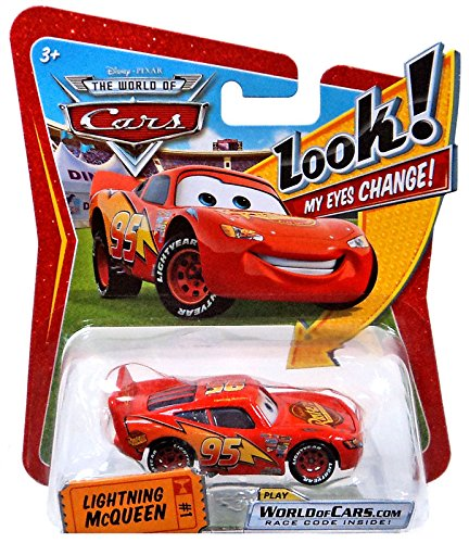 LIGHTNING MCQUEEN #1 w/ Lenticular Eyes Disney / Pixar CARS 1:55 Scale Die-Cast Vehicle
