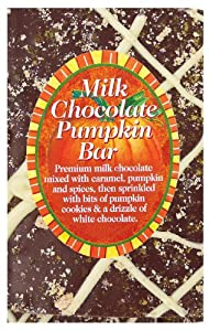 Traverse Bay Confections Milk Chocolate Bar, Pumpkin, 3-Ounce (Pack of 8)