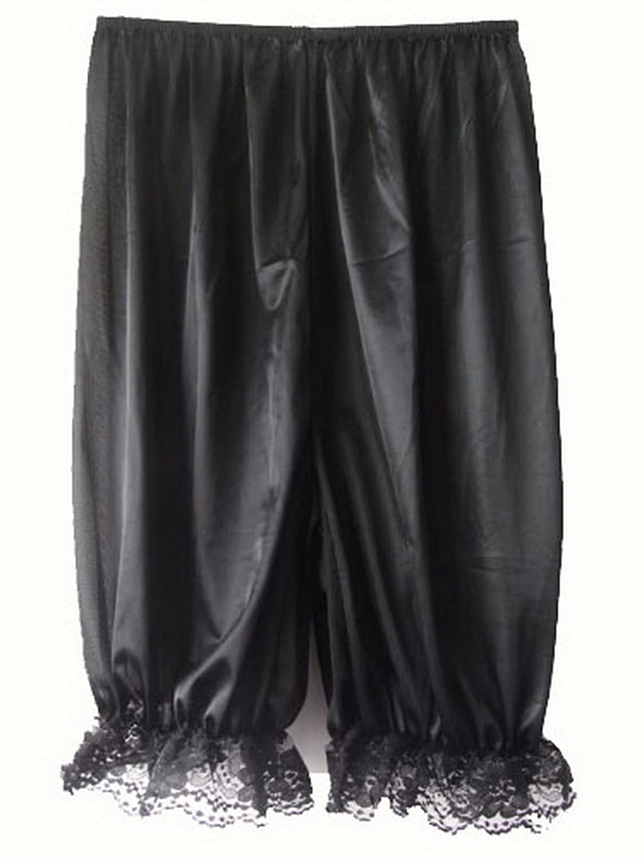 Frauen Handgefertigt Halb Slips UL1BK Black Half Slips Nylon Women Pettipants Lace günstig bestellen