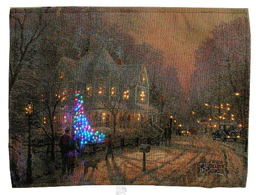 Thomas Kinkade A Holiday Gathering Fiber Optic Wall Hanging, Bannerette