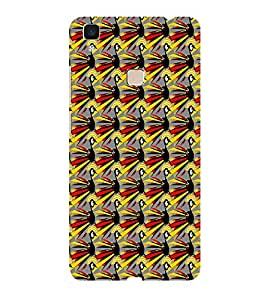 ifasho Animated Pattern peacock Back Case Cover for Vivo V3