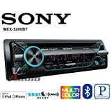 Volunteer Audio Sony MEX-N5200BT Car Stereo Single Din Radio with Bluetooth, CD Player, USB/AUX (Color: black, Tamaño: 1)