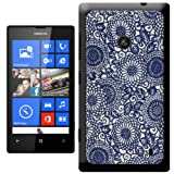 Taste Of Japan Hippy Blue Swirls Hard Case Clip On Back Cover For Nokia Lumia 520
