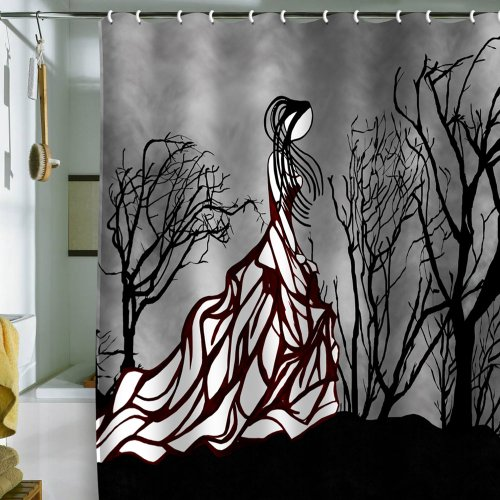 DENY Designs Amy Smith Lost In The Woods Shower Curtain, 69-Inch by 72-Inch