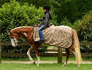 EOUS Fleece Quarter Sheet Horse Blanket, Olive, Medium