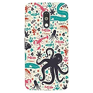 Back Cover for Moto G (4th Gen) Abstract animal