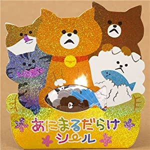 sticker sack pet cats Japan kawaii