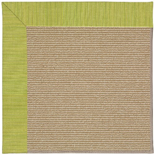 """4' X 4' Square Made-To-Order Oscar Isberian Rugs Area Rug Pea Pod Color Machine Made Usa """"Zoe Collection"""" Sisal Design front-500841"""