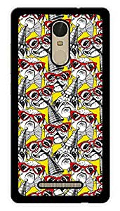 "Humor Gang Pug Retro Pattern Printed Designer Mobile Back Cover For ""Xiaomi Redmi Note 3"" (3D, Glossy, Premium Quality Snap On Case)"