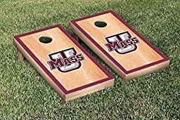 Massachusetts UMASS Minutemen Cornhole Game Set Hardcourt Border Version