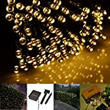 INST Solar Powered LED String Light, Ambiance Lighting, Great for Outdoor Use in Patio, Pathway, Garden, Indoor Use in Party, Bedroom Decor