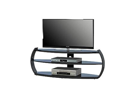 MAJA-Möbel 1627 4247 TV-Rack, schwarz Hochglanz - Schwarzglas, Abmessungen BxHxT: 140 x 50,9 x 45 cm