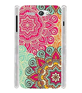 Floral Pink Pattern Art India Soft Silicon Rubberized Back Case Cover for Lava Flair P1