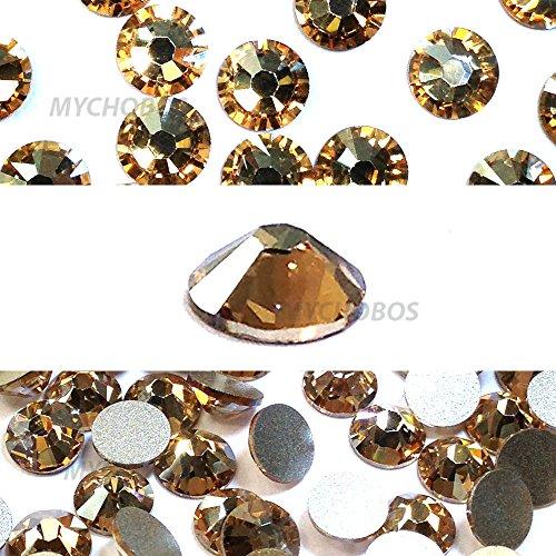 CRYSTAL GOLDEN SHADOW (001 GSHA) Swarovski NEW 2088 XIRIUS Rose 34ss 7mm flatback No-Hotfix rhinestones ss34 18 pcs (1/8 gross) *FREE Shipping from Mychobos (Crystal-Wholesale)*