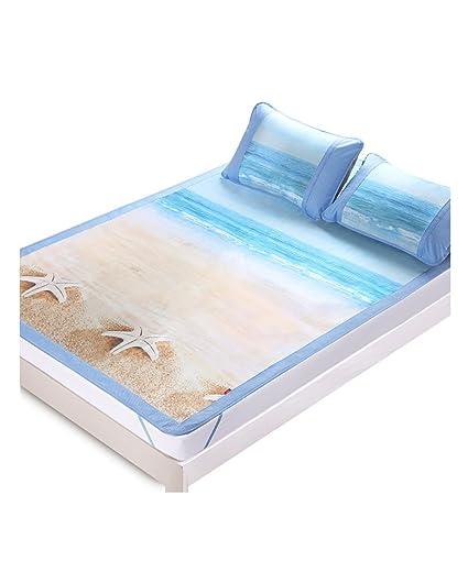 JIANFEI Seda de hielo Verano Esteras para dormir Casa Alto grado respirable Plegable Esteras ( Tamaño : 1.8*1.95m )