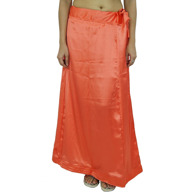 Indian Silk Satin Petticoat Bollywood Solide Inskirt Futter für Sari online bestellen