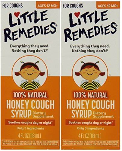 Little Remedies Honey Cough Syrup, 4 Fluid Ounce, 2 Count