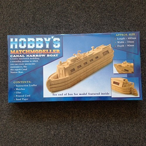 Canal Narrow Boat - Matchmodeller matchstick model construction craft kit - by Matchmodeller