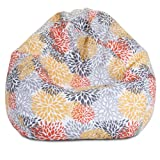 Majestic Home Goods Blooms Bean Bag, Small, Citrus
