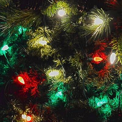 Gabriel Red/Warm White/Green C6 LED Christmas Lights 70 Light