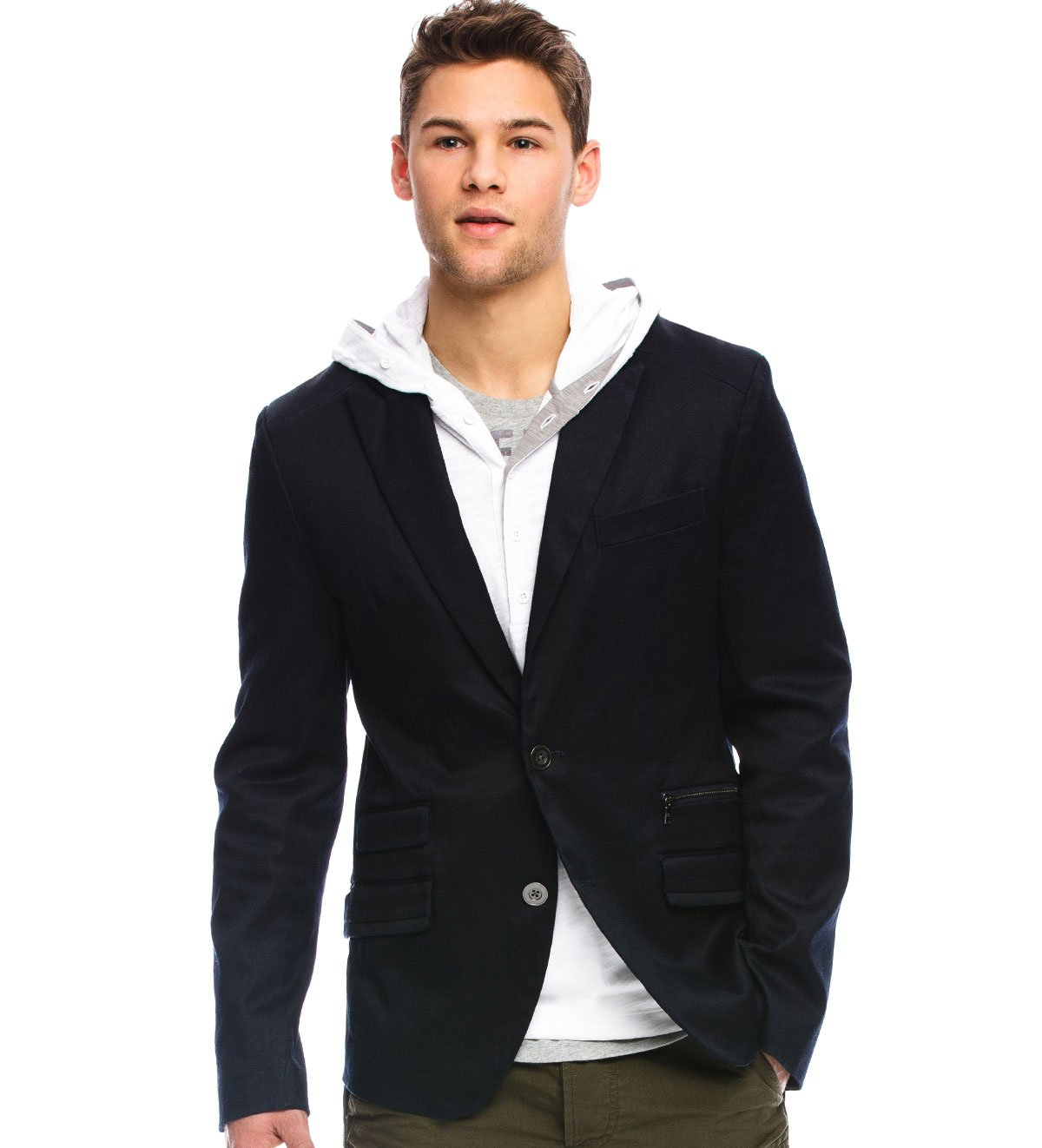 Armani Exchange Denim Blazer