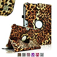 Fintie (Leopard Brown) 360 Degrees Rotating Stand Case Cover for Samsung Galaxy Note 10.1 inch Tablet N8000 N8010...