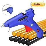 Manelord Glue Gun - 100W Hot Glue Gun with 10Pcs High Adhesion Hot Glue Sticks for Car Dent Repair, Home Improvement, Quick Daily Repair and DIY Small Craft Projects (Tamaño: Glue Gun Set)