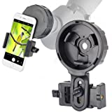 Cell Phone Adapter Mount for Vortex Bushnell Celestron Barska Spotting Scope Big Eyepiece Adapter Mount Work with Binoculars Monocular Spotting Scope Telescope For iPhone 6Plus Samsung HTC LG and More (Color: Cellphone mount for big eyepiece)