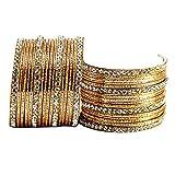 Vidhya Kangan antiqe bangles color- Golden Size-2.10