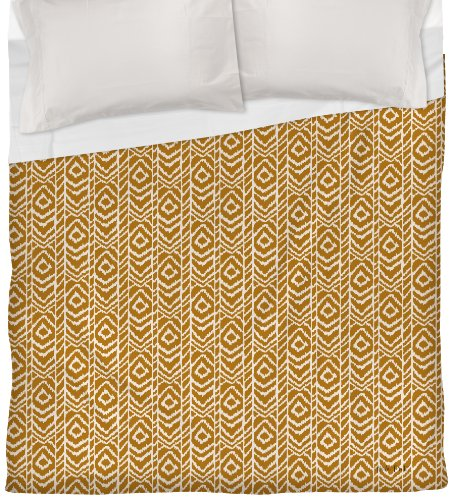 Thumbprintz Duvet Cover, Full/Queen, White Sketched Ikat front-424508
