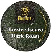 Cafe Britt Costa Rican Dark Roast Coffee Single Serve Cups, 18 count, 0.39 Ounce