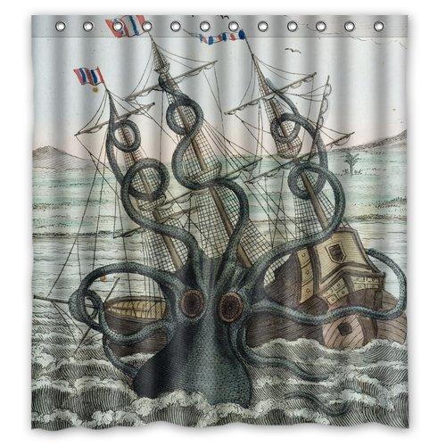 Sea Kitchen Curtains Amazon: Best Kracken Shower Curtain