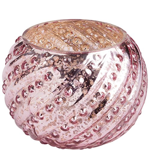 BUTLERS POMP Teelichtglas rund rosa