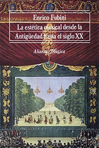 La estética musical desde la Antigüedad hasta el siglo XX (Alianza Música (Am))