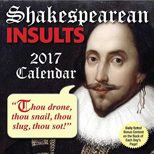2017 SHAKESPEAREAN INSULTS Daily Desk/ Box Calendar
