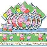 Kit da festa per 16 persone, tema Peppa Pig