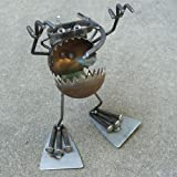 Welded Metal Art Gnome Be Gone Swimming Scuba Diver